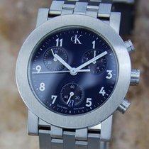 ck Calvin Klein Swiss Made Mens Stainless Steel c2000 Quartz...