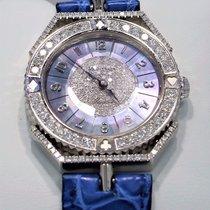 Montega 18k White Gold Factory Diamond Bezel Mother Of Pearl...