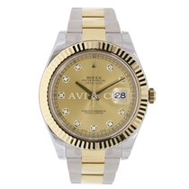 Rolex DATEJUST II 41mm 18K Yellow Gold Bezel Diamond Dial