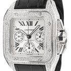 Cartier Santos 100 XL Chronograph Diamond Set W20090X8 - In...