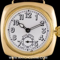 Rolex 18k Y/G Porcelain Dial Cushion Case Vintage Gents...