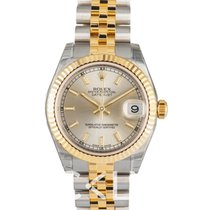 Rolex Datejust Midsize Gold ivory/18k gold Ø31mm - 178273