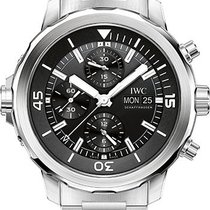 IWC Aquatimer Chronograph Stainless Steel Black Dial Bracelet