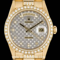 Rolex 18k Y/G Rare Pleiade Dial Diamond Set Day-Date B&P...