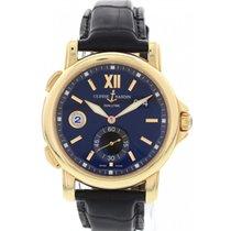 Ulysse Nardin Men's  Dual Time 18K Rose Gold Watch 246-55-32