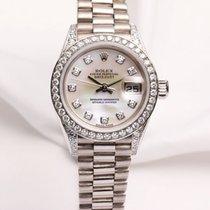 Rolex Lady DateJust 79159 MOP Diamond 18k White Gold