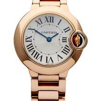 Cartier Ballon Bleu SM Silver Dial 18k Rose Gold Women Watch...