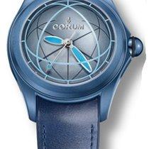 Corum 082.312.98/0063 OP02 R Bubble Sphere 2 in Blue PVD Steel...