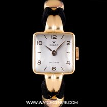 Rolex 18k Rose Gold Silver Dial Fancy Lugs Precision Vintage
