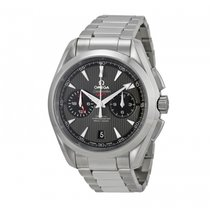 Omega Seamaster Aqua Terra GMT chronograph 43mm grey dial