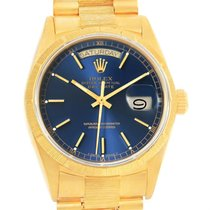 Rolex President Day-date 18k Yellow Gold Blue Dial Mens Watch...
