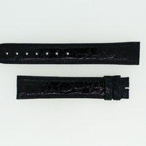 Cartier Krokolederband / Dunkelblau - 17,5 / 16 Länge 115 / 85