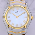 Ebel Classic Wave Date Lady Stahl 18K Gold Mother of Pearl Luxus