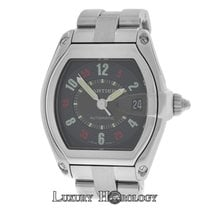Cartier Mint Mens Unisex  Roadster  Stainless Steel Date...
