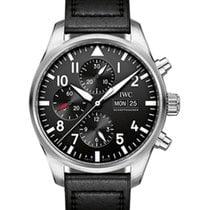 IWC Schaffhausen IW377709 Pilot's Watch Chronograph Black...