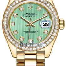 Rolex Lady Datejust 28mm Yellow Gold 279138RBR Mint Green...