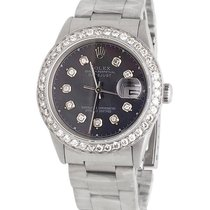 Rolex Mens Stainless Steel Rolex Datejust 36MM Oyster 16014...