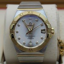 Omega 123.20.38.21.52.002   Constellation Silver Diamond Dial...