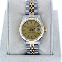 Rolex Datejust 69173 Ladies Two Tone Champagne Dial Jubilee...