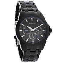 Bulova Mens Day/Date Black Ion Finish Bracelet Quartz Watch...
