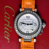 Cartier Pasha 32mm 18k White Gold & Diamond Automatic...