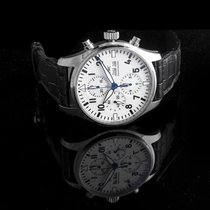 """IWC Pilot's Watch Chronograph Edition """"150 Years"""" White/Leather"""