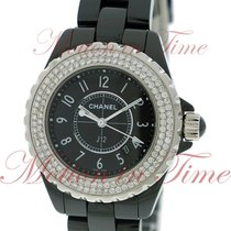 Chanel J12 33mm Quartz, Black Dial, Diamond Bezel - Ceramic on...