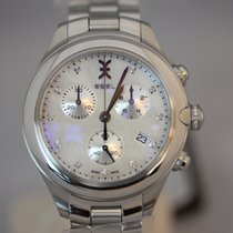 Ebel Onde Chronograph Perlmutt Diamanten Quarz 36mm NEU