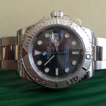 Rolex YachtMaster 40 steel and platinum NEW Grey dial