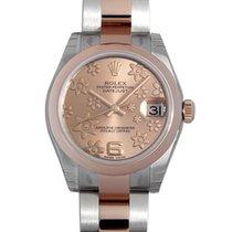 Rolex Datejust Lady 31mm Pink Raised Floral Motif Dial 18k