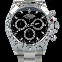 Rolex Daytona 116520 Cosmograph Steel Oyster Black Dial Watch...