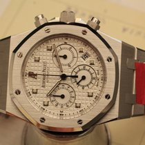 Audemars Piguet royal  oak white gold chronograph box papers -...