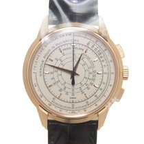Patek Philippe Anniversary Series 18k Rose Gold Silvery White...