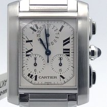 Cartier Stainless Steel Chronoflex Chronograph Quartz On...