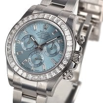 Rolex Daytona Platinum  Ice Blue Baguette Dial And Bezel...