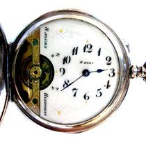 Hebdomas 8 Days / Jours Hunter Art Deco 1900c Case Silver 51mm