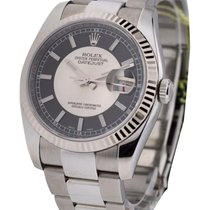 Rolex Used 116234_used_silver_black 36mm Datejust Ref 116234...