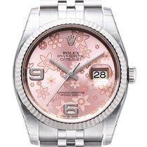 Rolex Datejust 36 mm Edelstahl / Weißgold 116234 Pink Floral Jub