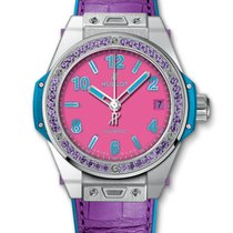 Hublot : 39mm Big Bang One Click Pop Art Steel Purple Watch