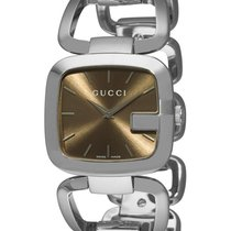 Gucci G-gucci Brown Dial Stainless Steel Ladies Watch Ya125402