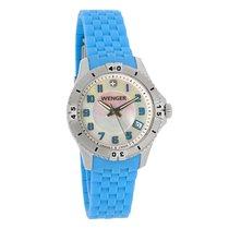 Wenger Ladies Squadron Mop Dial Blue Strap Swiss Quartz Watch...