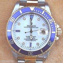 Rolex Submariner Mens Watch Two Tone Mop Serti Diamond...