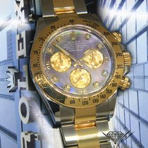 Rolex Daytona 2017 18k Yellow Gold/Steel Tahitian MOP Diamond...