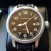 Hamilton KHAKI FIELD PIONEER AUTO Steel Vintage-Brown Leather...