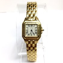 Cartier Panthére 18k Yellow Gold Ladies Watch In Box