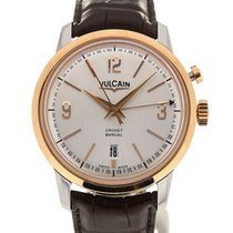 Vulcain 50s Presidents' Watch 42 Pink Gold Silver-toned Dial