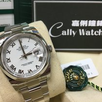 Rolex Cally - 116200 36mm Oyster Datejust White Roman Dial [NEW]
