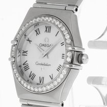 Omega Constellation Lady Quarz Stahl+Diamantlünette 14766100