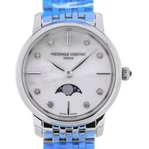 Frederique Constant Slim Line Moon Phase Stainless Steel Strap...
