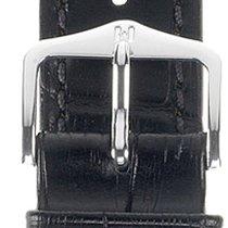 Hirsch Duke Lederarmband schwarz L 01028050-2-22 22mm
